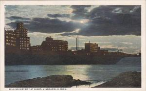 Minnesota Minneapolis Milling District At Night