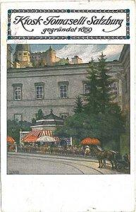 20004 - Ansichtskarten  - AUSTRIA  Österreich  - SALZBURG Kiosk Tommaselli 1924
