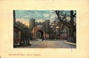 Derbys Thrumpton Hall Lodge Gate Postcard