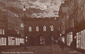 SOUTHAMPTON, Hampshire, England, 1900-1910's; Bargate at night