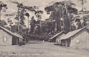 Boy's Dormitories, Mac Lean Memorial Station, Lolodorf, West Africa, Cameroon...