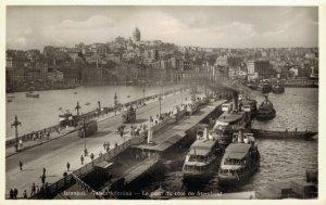Turkey Istanbul Galata Köprüsü RPPC 04.94
