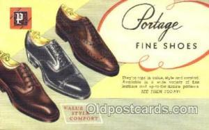 Portage Shoe Advertising Postcard Postcards Unused