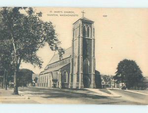 Unused Pre-Chrome CHURCH SCENE Tauton Massachusetts MA L4847