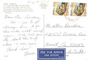 Italy Old Vintage Antique Post Card Domes of the Basilica of the Sain Padova ...