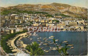Modern Postcard Monte Carlo Harbor and the Condamine