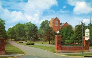 OH - New Concord, Muskingum College Entrance and College Drive Presbytarian C...
