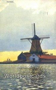 Zaandam Netherlands 1913 Missing Stamp