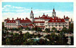 Florida St Augustine Hotel Ponce De Leon 1922 Curteich