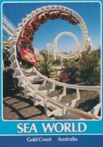 Sea World Australia Thrill Ride Rollercoaster Australian Theme Park Postcard