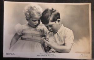 Mint England RPPC Postcard Their Royal Highness Princes Charles & Princess Anne