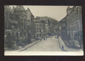 RPPC CALZA YUGOSLAVIA SLOVENIA DOWNTOWN STREET SCENE REAL PHOTO POSTCARD