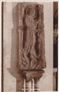 RP, Saxon Stone, Harrowing Of Hell, Bristol Cathedral, England, UK, 1920-1940s