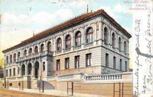 Providence Rhode Island~New Public Library~Very Small Trees in Front~1907 Pc