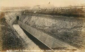 C-1910 Klamath Falls Oregon 3000 Foot Tunnel Irrigation RPPC real photo 10149