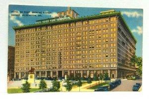Wilmington Delaware Hotel Du Pont Rodney Square Linen Vintage Postcard