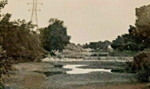 Wabash River Huntington Indiana RPPC Vintage Postcard unposted   549
