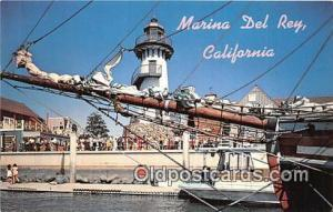 Marina Del Rey, CA, USA Postcard Post Card Fisherman's Village
