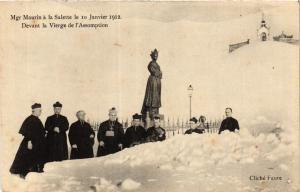 CPA Mgr Maurin a la SALETTE 10 Janvier 1912 Devant la Vierge de l'As (391928)