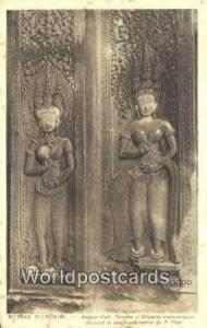Ruines D'Angkor Cambodia, Cambodge Angkor Vath, Escalier Lateral Ruines D'Ang...