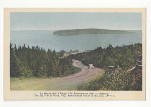 Canada The Big Hill Perce Quebec Bonaventure Island Vtg Henderson Postcard