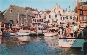 Boothbay Harbor Maine~Swan Island Balmy Days Boat~Wharf ~Merry Calf 1950 PC