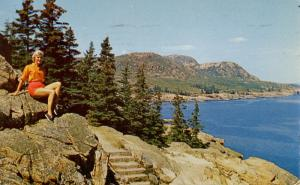 ME - Bar Harbor. Acadia National Park. View from Summit of Otter Cliff