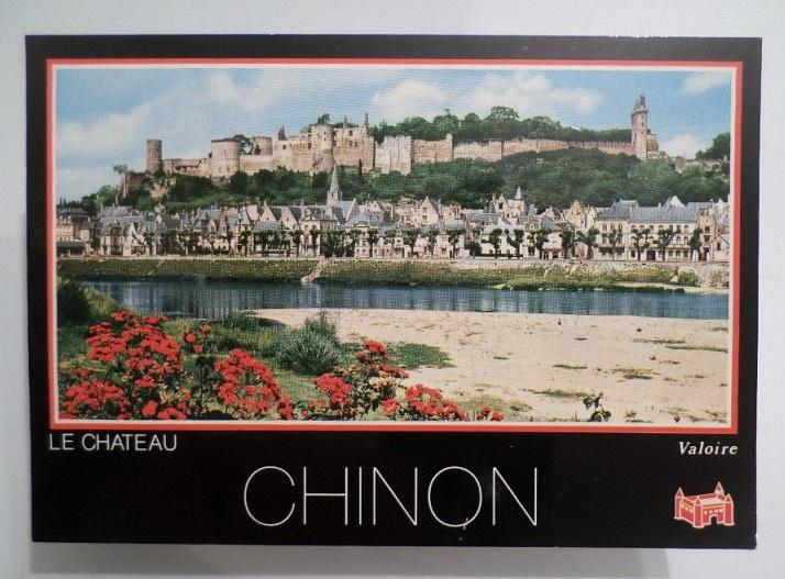 CARTE POSTALE POSTCARD FRANCE CHINON CHATEAU CASTLE FORTRESS