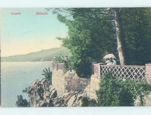 old card KURPARK Opatija - Abbazia In Primorje-Gorski Kotar County Croatia F5401