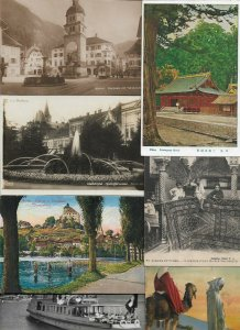 Mixed World Postcard of 50 Lot Really Interesting! Africa Asia Europe USA 01.14