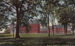 State Hospitol Concord New Hampshire