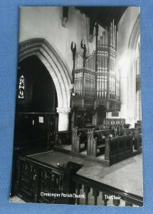 Vintage  Real Photo Postcard Cirencester Parish Church The Choir  Gloucester D1