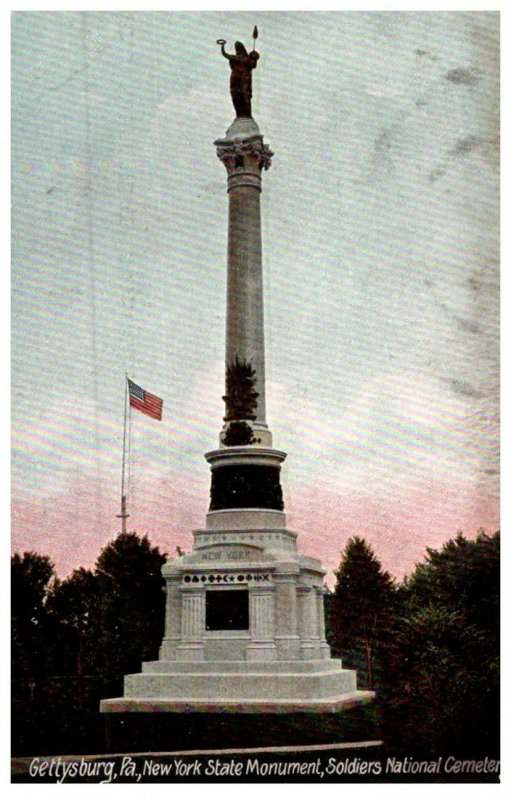 Pennsylvania Gettysburg , NY State Monument ,Soldier's National cemetery