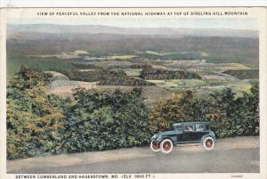 Between CUMBERLAND And HAGERSTOWN, Maryland, 1900-1910's; View Of Valley From...