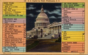 Washington D C The U S Capitol Busy Persons Correspondence Card 1948 Curteich