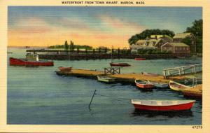 MA - Marion, Cape Cod. Waterfront from Town Wharf