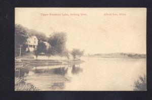 ALBERT LEA MINNESOTA UPPER FOUNTAIN LAKE ANTIQUE VINTAGE POSTCARD ST JOSEPH