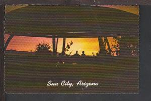 Sunset Sun City AZ Postcard BIN