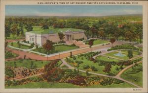 Bird's eye view Art Museum Fine Arts Garden Cleveland Ohio