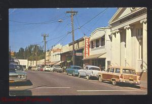 GRASS VALLEY CALIFORNIA DOWNTOWN STREET SCENE CARS WOODY