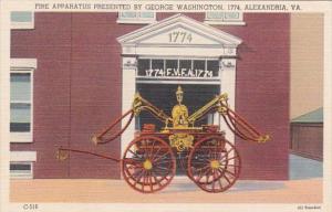 Virginia Alexandria Fire Apparatus Presented By George Washington 1774