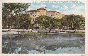 Florida Fort Lauderdale Lauderdale Arms Apartments Curteich
