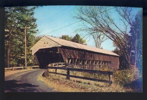 Conway, New Hampshire/NH Postcard, Covered Bridge, Long Truss Plan, Swift River