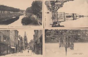Amiens Bus Tram Stop Somme 4x Antique Postcard s