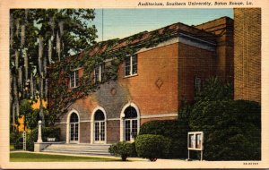 Louisiana Baton Rouge Auditorium Southern University 1944 Curteich