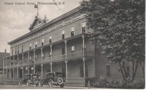 Grand Central Hotel ~ Edmundston New Brunswick NB ~ Cars c1929 Vintage Postcard