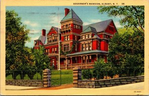 Albany, New York, NY, Governor's Mansion, 1934 Linen Vintage Postcard