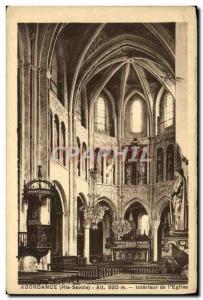 Old Postcard Abundance Interior of The Church