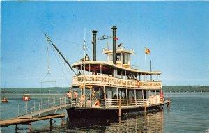 Mayville New YOrk 1976 Postcard Chautauqua Belle Paddle Wheel Steamboat