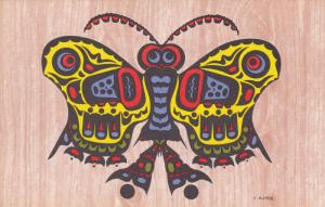 Pacific Northwest Coast Indian Motif , Butterfly , Queen Charlotte Island - H...